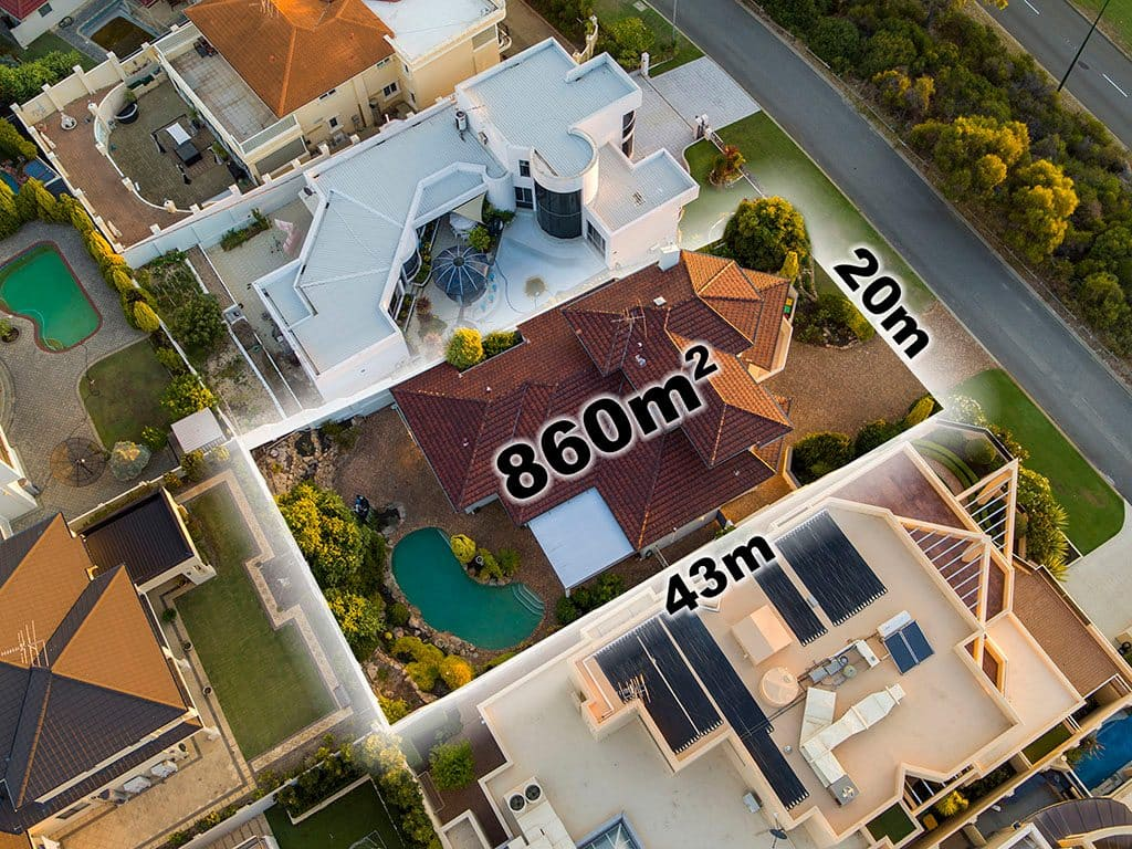 Real Estate Aerial Photography Overlay